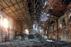 Free Abandoned And Destroyed Sugar Factory In Ramon, Voronezh Region Royalty Free Stock Photo - 143867265