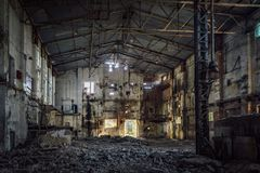 Free Abandoned And Ruined Sugar Factory In Lower Kislyay, Voronezh Region Royalty Free Stock Image - 147009736