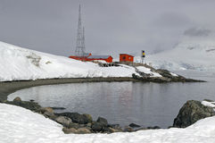 Abandoned Antarctic research base. An abandoned Agentinian research base on the Antarctic peninsula stock photo