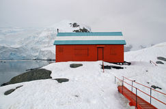 Abandoned Antarctic Research Base. An abandoned Argentinian research base on the Antarctic peninsula royalty free stock images