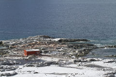Abandoned Antarctic station on one of the islands near the Antar Royalty Free Stock Image