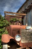 Abandoned antique car in the California Desert country royalty free stock photography