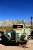Abandoned antique old truckin the desert Stock Image