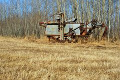 Abandoned antique thresher Royalty Free Stock Images
