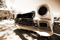 Abandoned antique usa car Stock Images