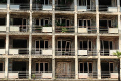 Abandoned apartment building Stock Photo