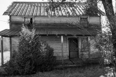 Abandoned Appalachia Farmhouse. A horizontal image of an old Appalachia farmhouse located in rural Virginia, USA royalty free stock photography