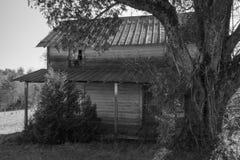 Abandoned Appalachia Farmhouse. A horizontal image of an old Appalachia farmhouse located in rural Virginia, USA stock photo