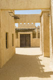 Abandoned Arabic village. Reconstruction of a historical Arabic town in the desert Stock Images