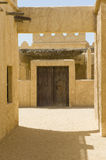 Abandoned Arabic village. Reconstruction of a historical Arabic town in the desert Stock Image