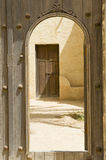 Abandoned Arabic village. Reconstruction of a historical Arabic town in the desert Stock Photos
