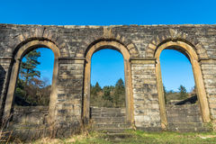 Abandoned Arch Windows Stock Photo
