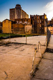 Abandoned area and old buildings in Baltimore, Maryland. Stock Photography