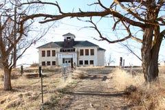Abandoned asylum. An abandoned asylum in the countryside stock photo