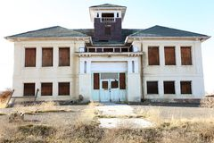 Abandoned asylum. An abandoned asylum in the countryside royalty free stock image