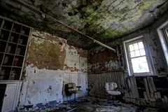 Abandoned asylum Stock Photo