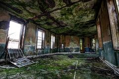 Abandoned asylum ward Royalty Free Stock Photo