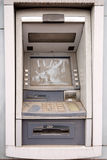 Abandoned ATM machine. Dusty abandoned old ATM machine stock images