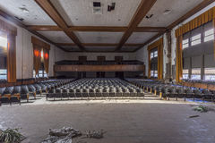 Abandoned auditorium in high school stock photos