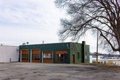 Abandoned auto garage Rochester Michigan royalty free stock photos