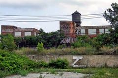 Abandoned automotive factory Royalty Free Stock Image