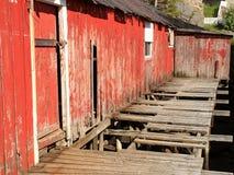 Abandoned  Ballstad's rorbu Royalty Free Stock Image