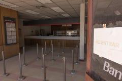 Abandoned bank, Chuquicamata ghost town Royalty Free Stock Photo