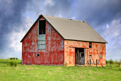 Abandoned Barn. A High Dynamic Range image of an old abandoned barn royalty free stock images