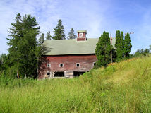 Abandoned Barn. Large New England barn falling into disrepair Stock Images
