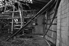 Abandoned barn. In the woods Stock Photography