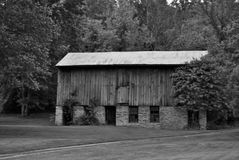 Black and white barn Royalty Free Stock Photography