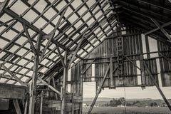 Abandoned Barn, Black and White Image Stock Image