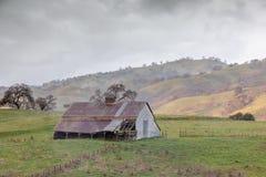 Abandoned barn in the foothills of Diablo Range in Mt Hamilton. Joseph D. Grant County Park, Santa Clara County, California, USA royalty free stock photo