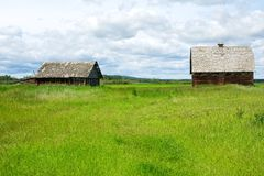 Abandoned barn and house Royalty Free Stock Images