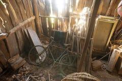 Abandoned barn interior Royalty Free Stock Photo