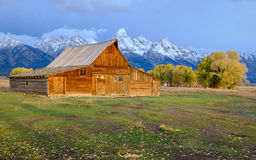 Abandoned barn at Mormon Row, Grand Teton Royalty Free Stock Photos