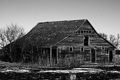 Abandoned barn. An old abandoned barn Stock Images