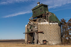 Abandoned barn. The abandoned barn in the rural Midwest countryside. Peru, Illinois, U.S.A royalty free stock photos