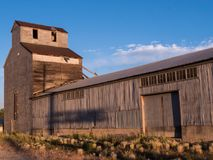 Abandoned barn in soft afternoon light Royalty Free Stock Image