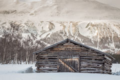 Abandoned barn in the valley Royalty Free Stock Photography