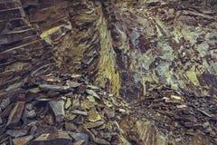 Abandoned basalt quarry Royalty Free Stock Image