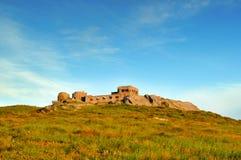 Abandoned base ruins in Carpathian mountains Stock Image