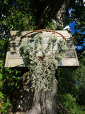 Abandoned basket hoop. No basket here for a long long time Stock Photography