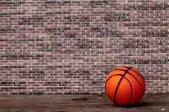 Abandoned basketball ball Royalty Free Stock Photography