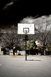 Abandoned Basketball Court stock images