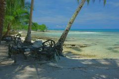 Abandoned beach. On the island of Siargao, Philippines Royalty Free Stock Images