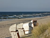 Beach in Graal Mueritz at Baltic Sea Germany stock image