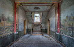Abandoned Beauty. An abandoned castle somewhere in Belgium with a lovely view to the staircase Stock Images