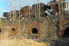 Abandoned beehive coke ovens royalty free stock photography