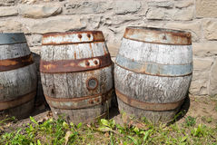 Abandoned Beer Barrels Royalty Free Stock Photo